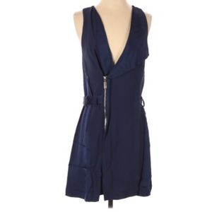 BIRD BY JUICY COUTURE | Navy Blue Belted Dress S